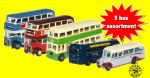 Oxford Diecast 5 Assorted N Scale Buses